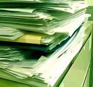 File of papers
