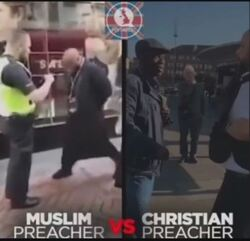 Muslim Christian and Police