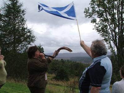 Shofar and flag