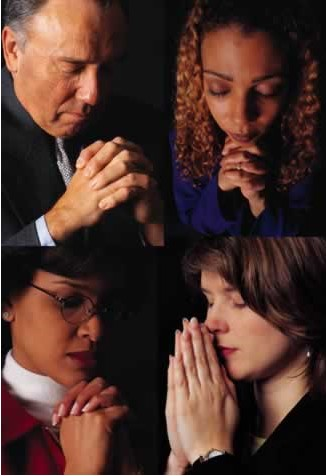 People in prayer
