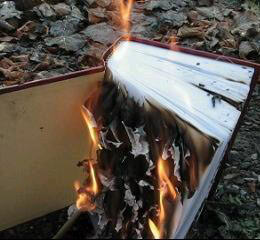Burning Koran